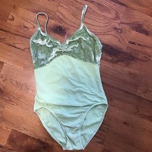Class in womens leotard small mint green